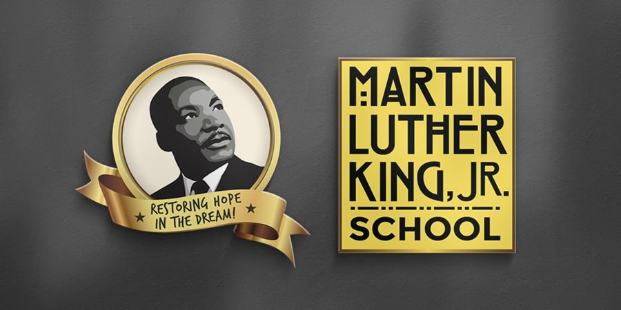 MLK Jr School Logo Design